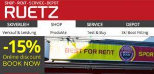 Sport Ruetz Main Website for Bookings